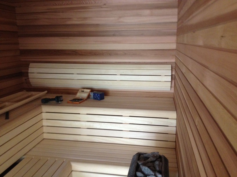 sauna interieur. Black Bedroom Furniture Sets. Home Design Ideas